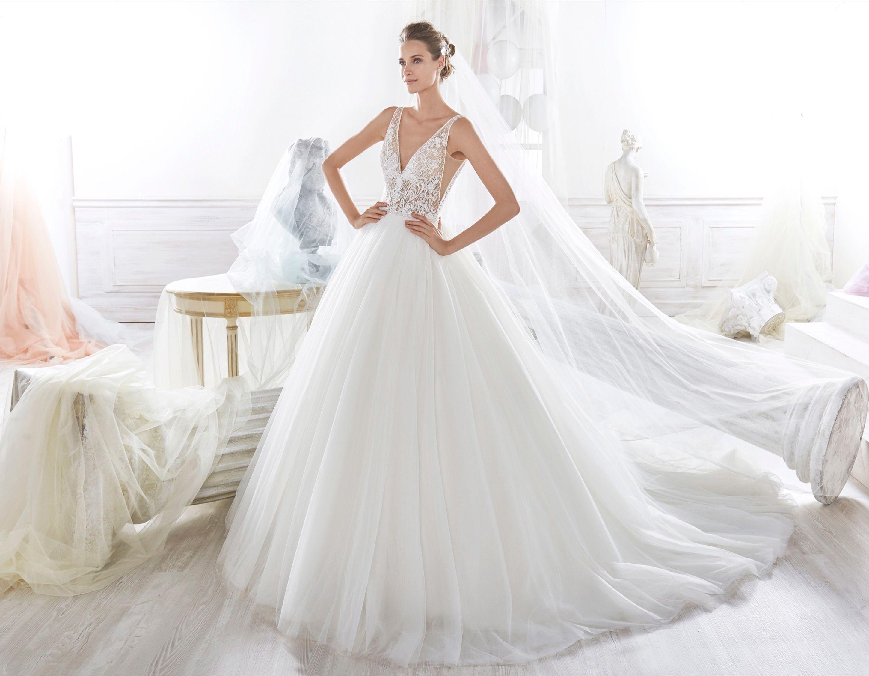 Moda sposa 2018 Collezione NICOLE. NIAB18009. Abito da