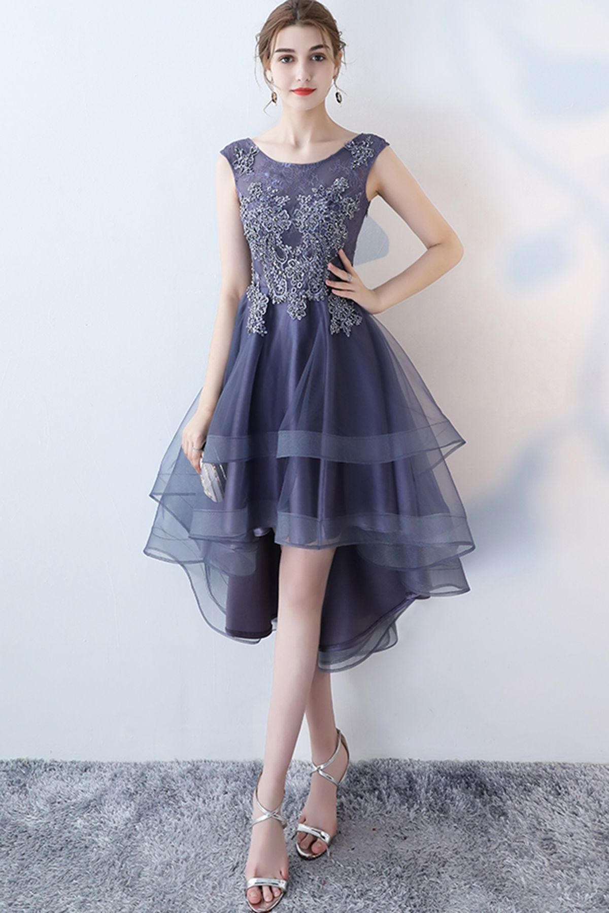 Stylish Navy Blue Tulle High Low Halter Sleeves Homecoming Dress Short Party Dress 054 In 2021 Homecoming Dresses Dresses Short Party Dress [ 1800 x 1200 Pixel ]