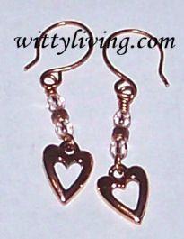 Copper Open Heart Earrings