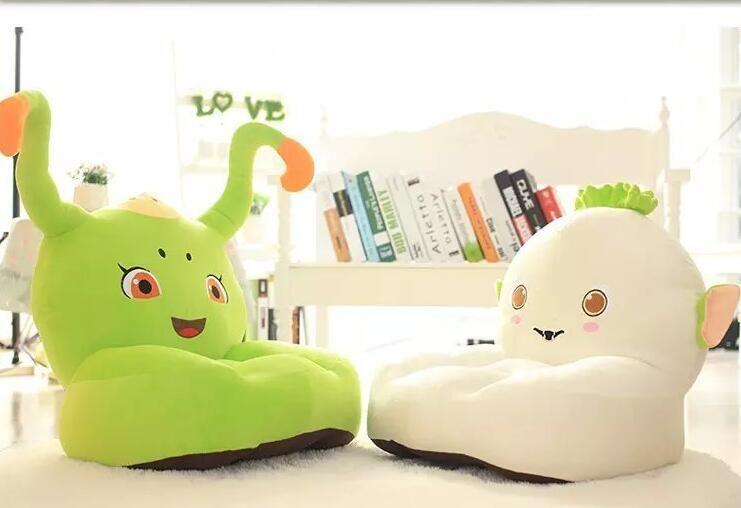 Leather Sectional Sofa Baby Seat kids toys Beanbag Cartoon Kawaii Cute Caterpillar Children Sofa for Kids Sleeping Bed Baby