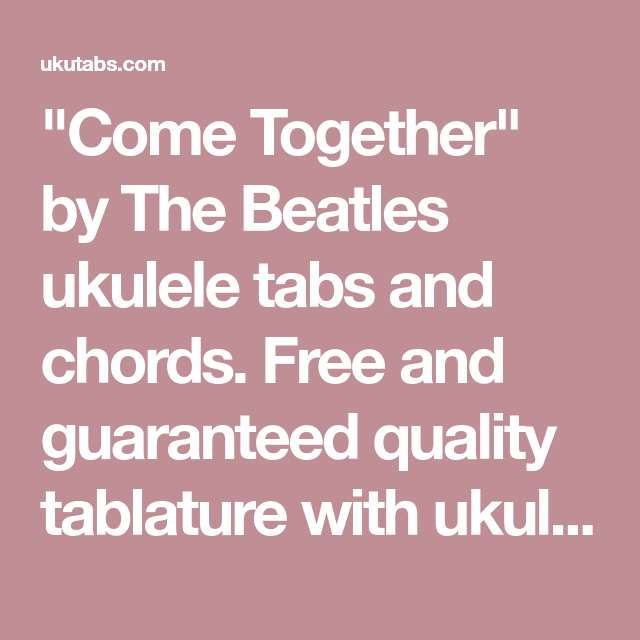 Come Together\