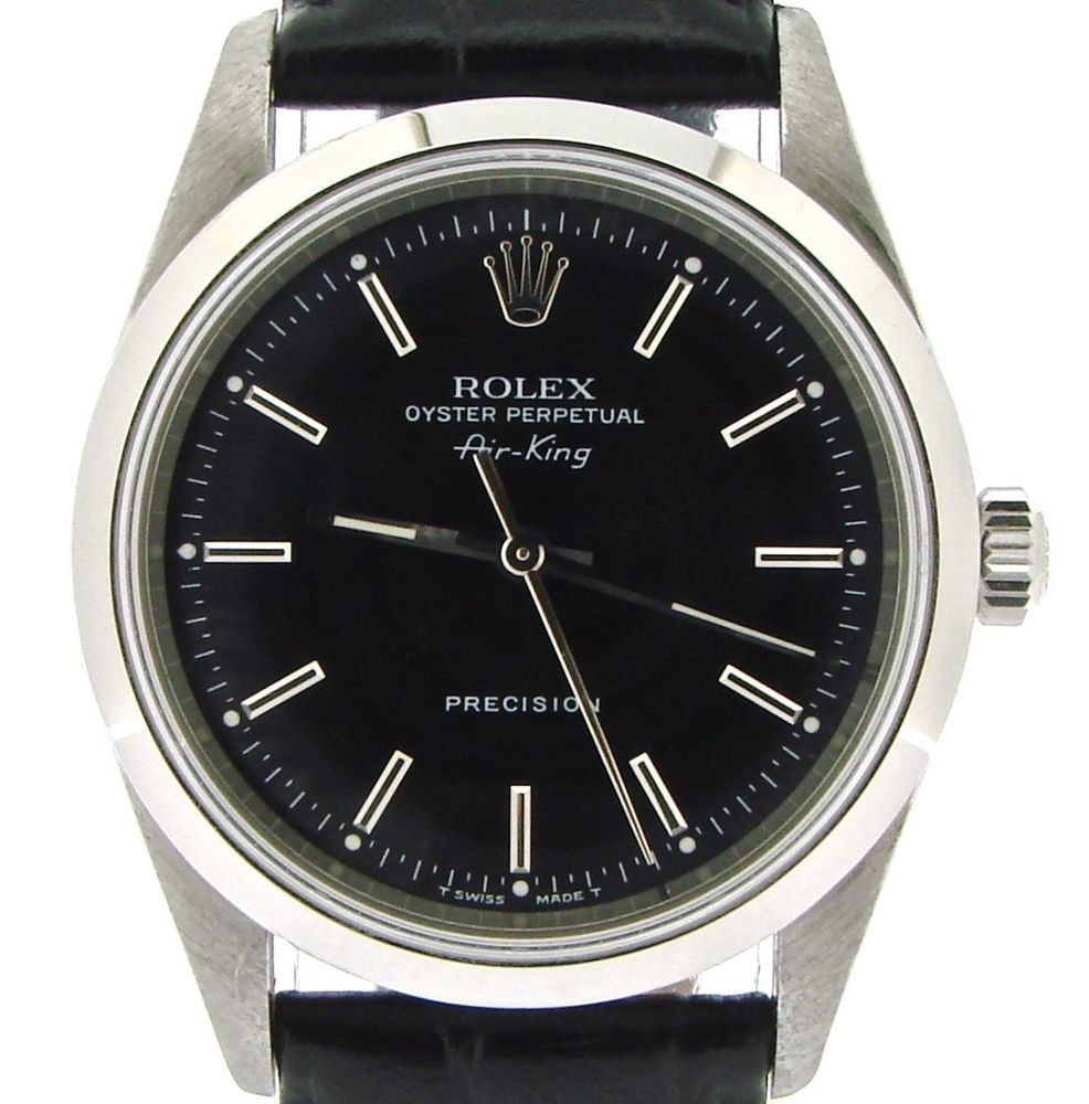 Rolex Air King Mens Stainless Steel Watch Sapphire Crystal