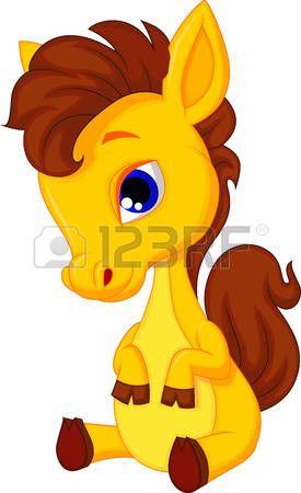 Historieta linda del caballo del beb� photo