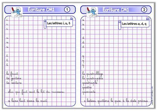 Fichier d'écriture CM1 | Écriture cm1, Cm1 et Autonomie ce2