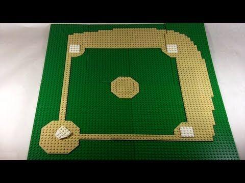 How To Build A Lego Baseball Field Lego Baseball Baseball Project Lego Sports