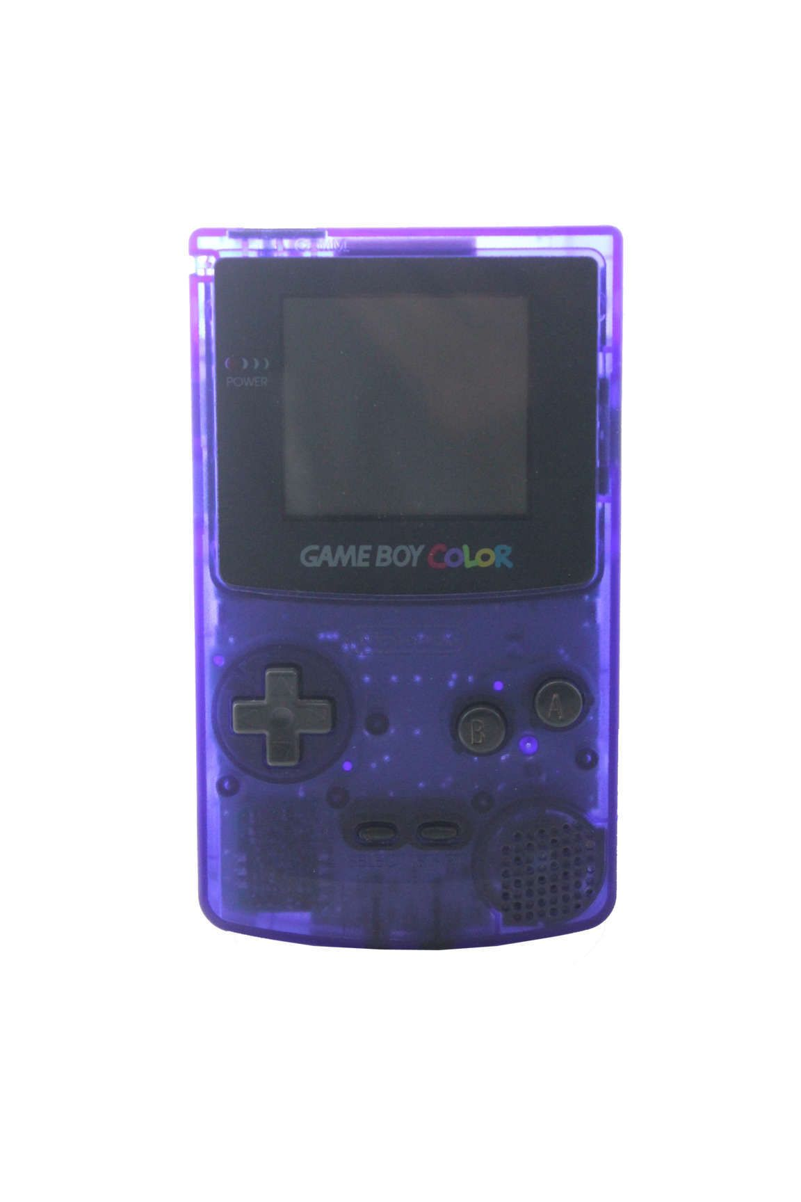 Handheld coloring games for toddlers - Console Gameboy Color Bleu Transparent Clear Blue