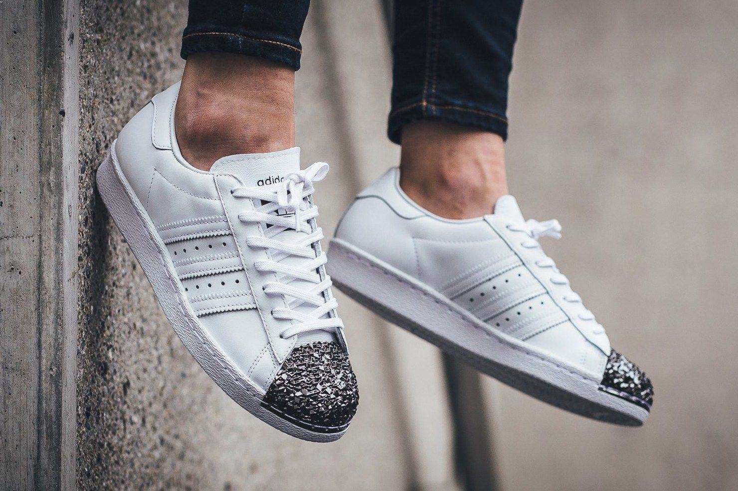 These Adidas Originals Superstar 80s Go Heavy On The Metal Missbish Women S Fashion Fitness Lifestyle Magazine Adidas Originals Superstar Sneakers Adidas Superstar Outfit Men