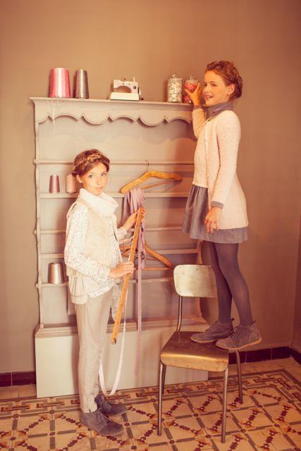 Girls pink french designer cotton blouse - Château de Sable