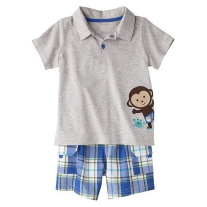 JUST ONE YOU® Made by Carters Infant Toddler Boys' 2 Piece Set - Heather Gray/Blue