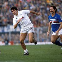 15.12.1985.Salvatore Bagni (Napoli) v Graeme Souness (Sampdoria ...