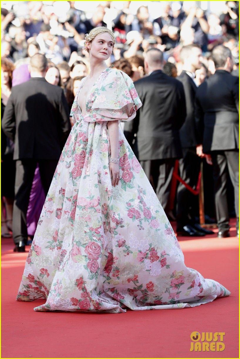 Elle Fanning S Floral Gown At Cannes Film Festival 2019 Is A Must See Elle Fanning Floral Gown Cannes Red Carpet Dresses Best Celebrity Dresses Nice Dresses