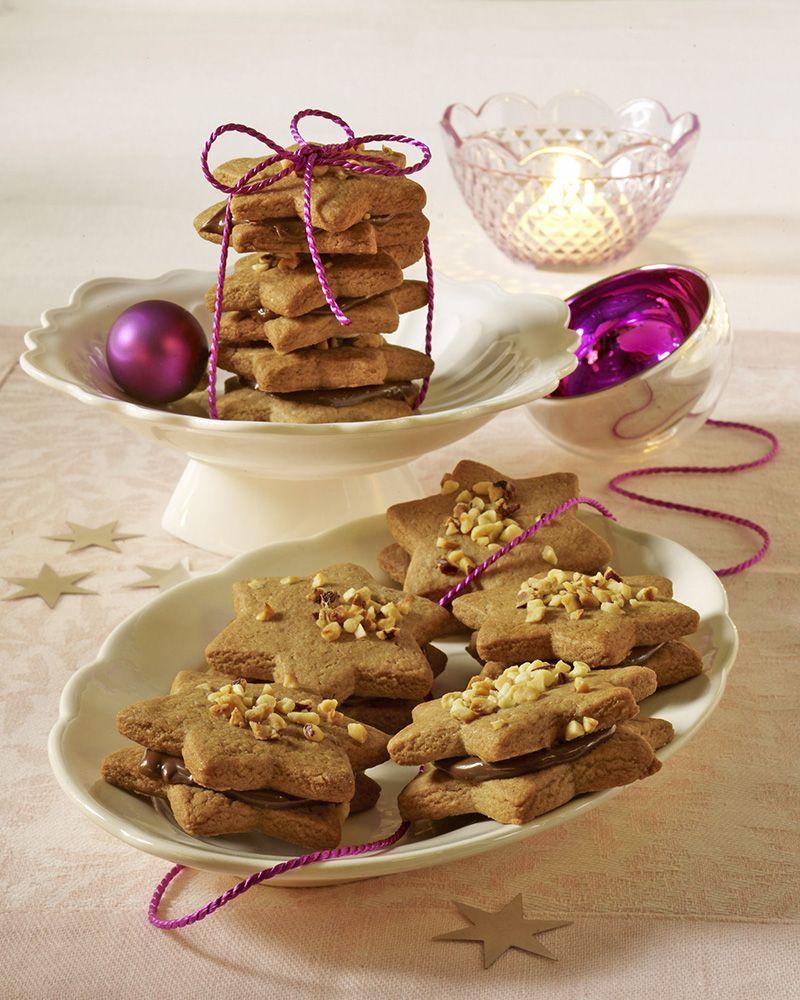 nougatsterne rezept weihnachtspl tzchen pinterest cookies biscotti und cake cookies. Black Bedroom Furniture Sets. Home Design Ideas