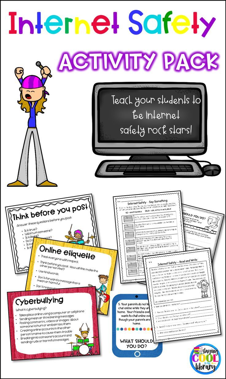 Worksheets Internet Safety Worksheets internet safety activity pack worksheets and teach your students about with these activities includes posters task cards