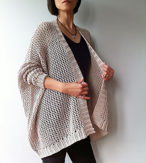 Angelina - easy trendy cardigan (knit) pattern by Vicky Chan ...