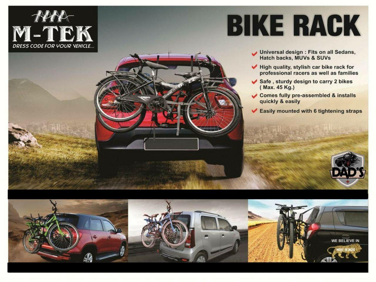 Introducing mtek bike rack for all cars carry 2 bikes