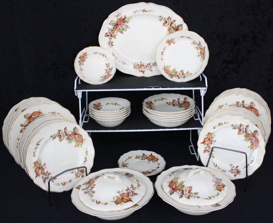 Royal Doulton Earthenware China Wilton Pattern D6226 C41 Vintage Dinnerware Service C41 & Royal Doulton Earthenware China Wilton Pattern D6226 C41 Vintage ...