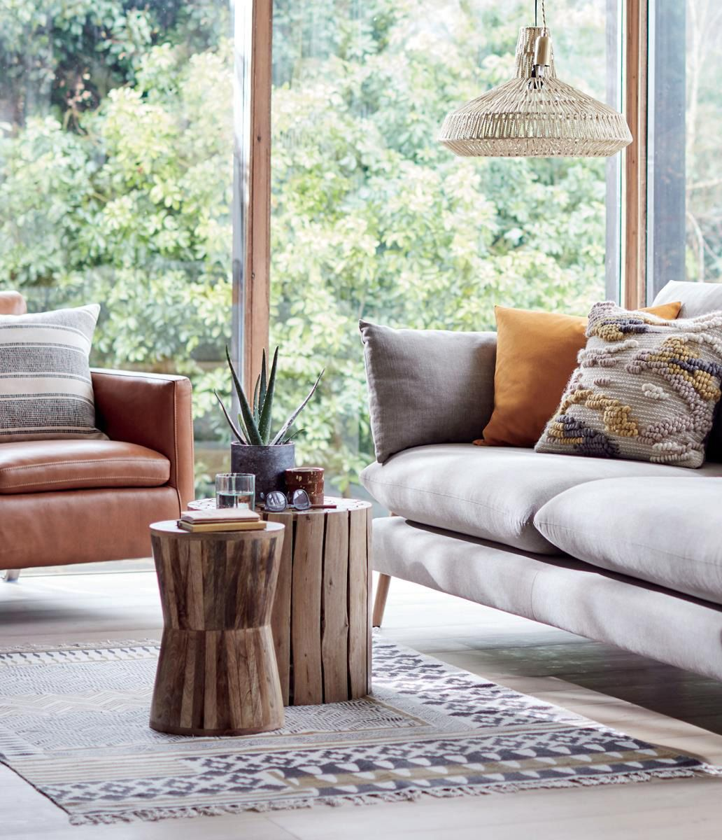 Blend Wood And Fabrics For A Stylish Living Room Scheme With A Rustic Twist Here Burnt Orange In 2020 Sofa Buying Guide Luxury Living Room Decor Stylish Living Room