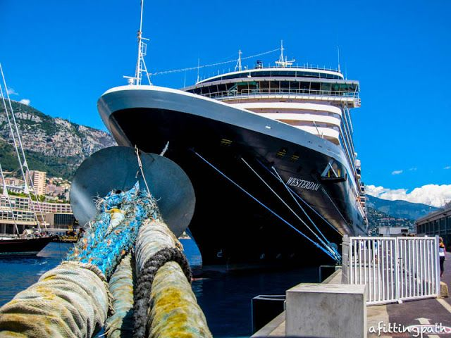 Holland America Lines Westerdam Cruise Ship Docked In The Port - Cruise ships in monaco today