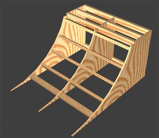 Quarter pipe plans diy 4ft or 3ft quarter pipe easy for Skateboard chair plans