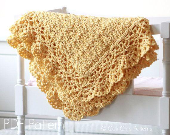 Baby Afghan PATTERN 124 - Fairy - Crochet Baby Blanket PATTERN 124 ...