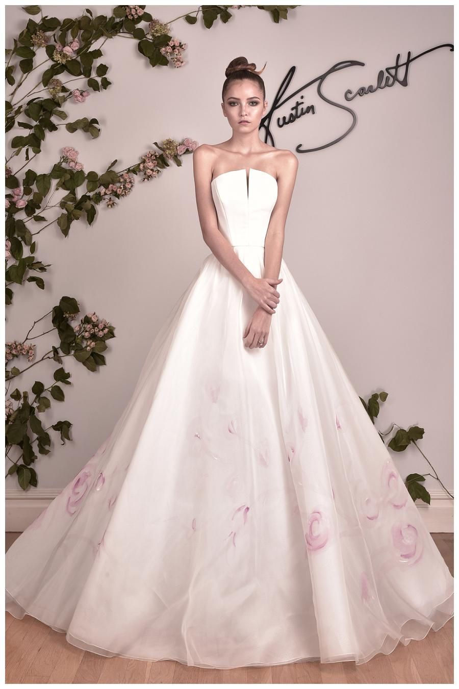 Wedding Dress From The Austin Scarlett Fall 2016 Collection Slip On Minerva Pink