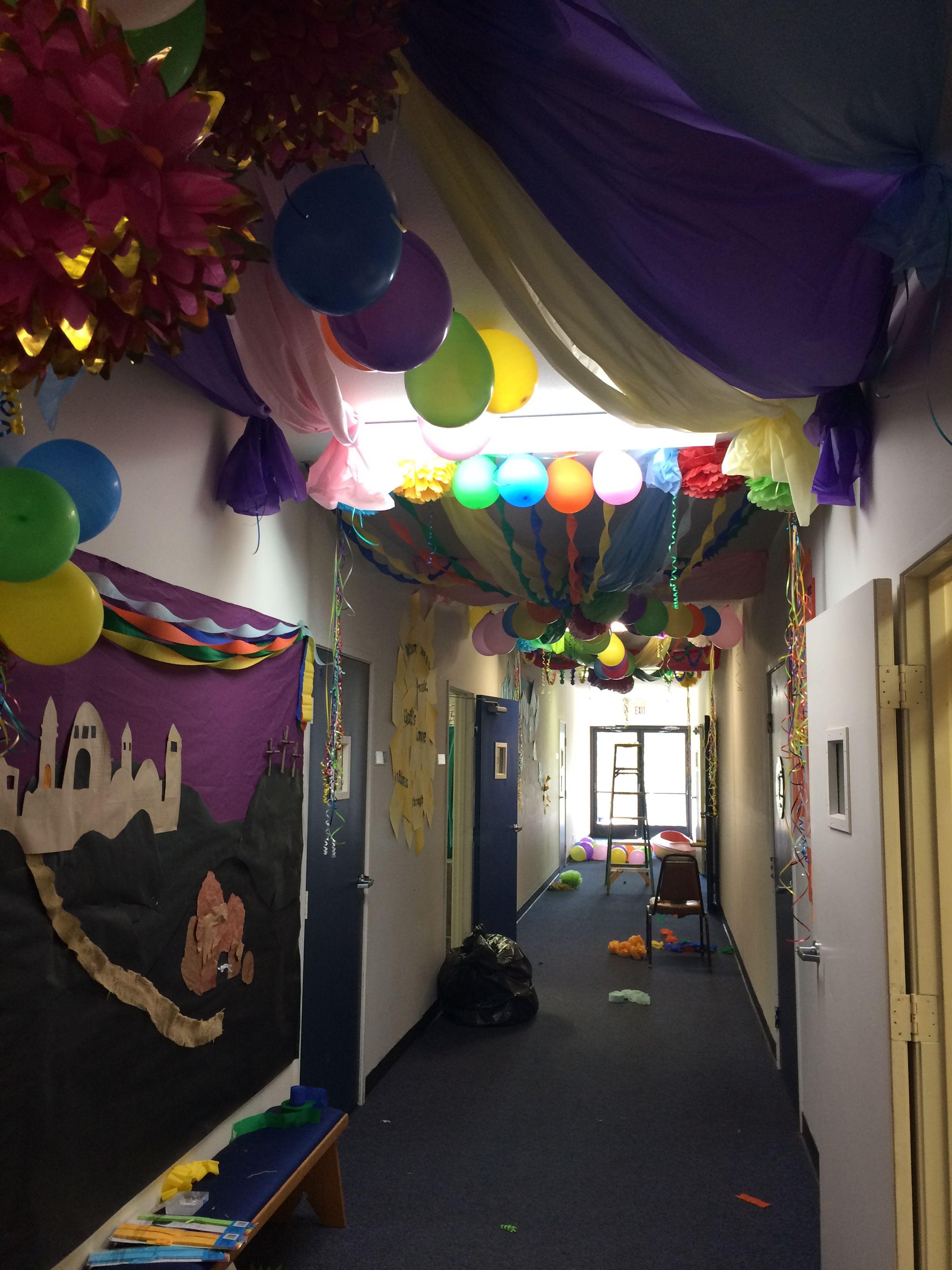 Easter Celebration Decor For Children S Church Hallway
