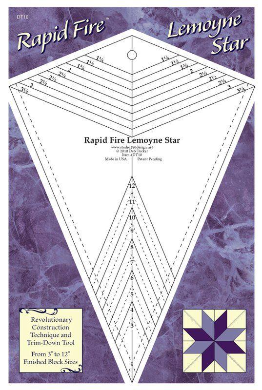 Rapid Fire Lemoyne Star Lemoyne Quilting Tools Star Quilt Patterns