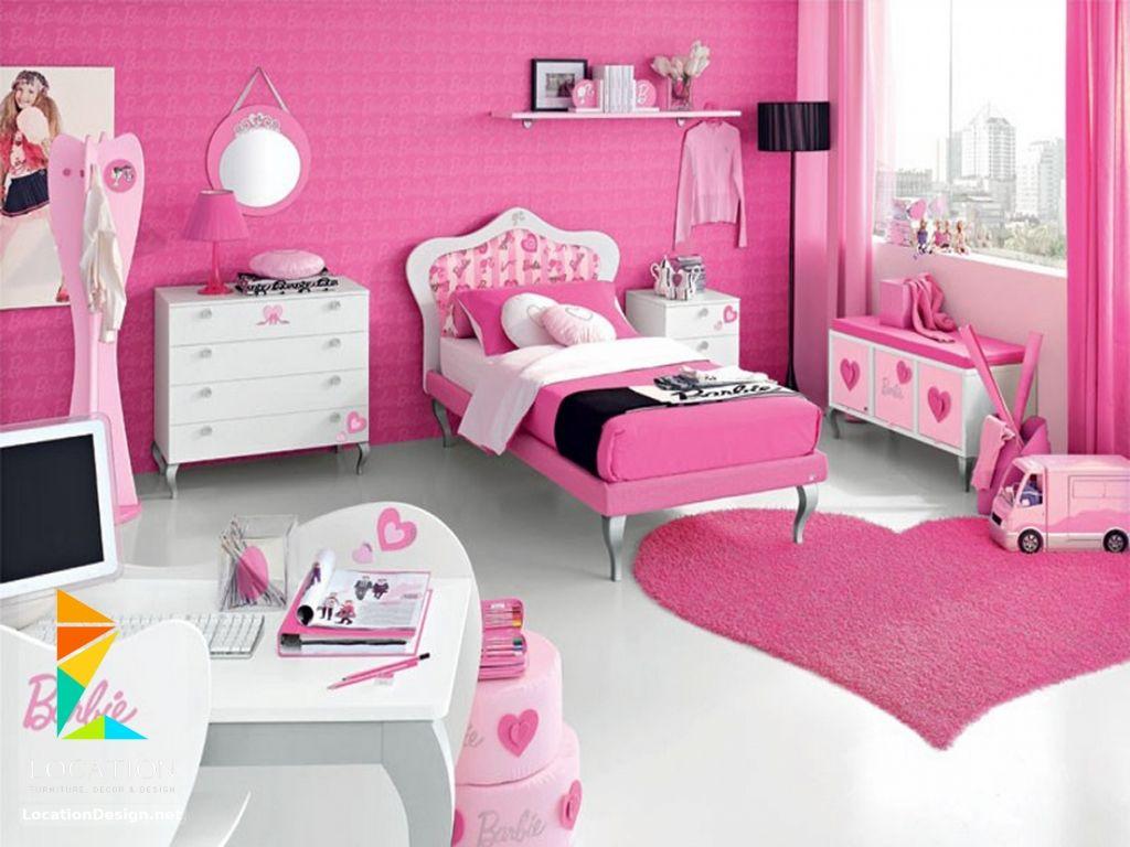 كتالوج غرف نوم اطفال باللون الوردي لوكشين ديزين نت Barbie Room Pink Bedroom For Girls Pink Bedroom Design