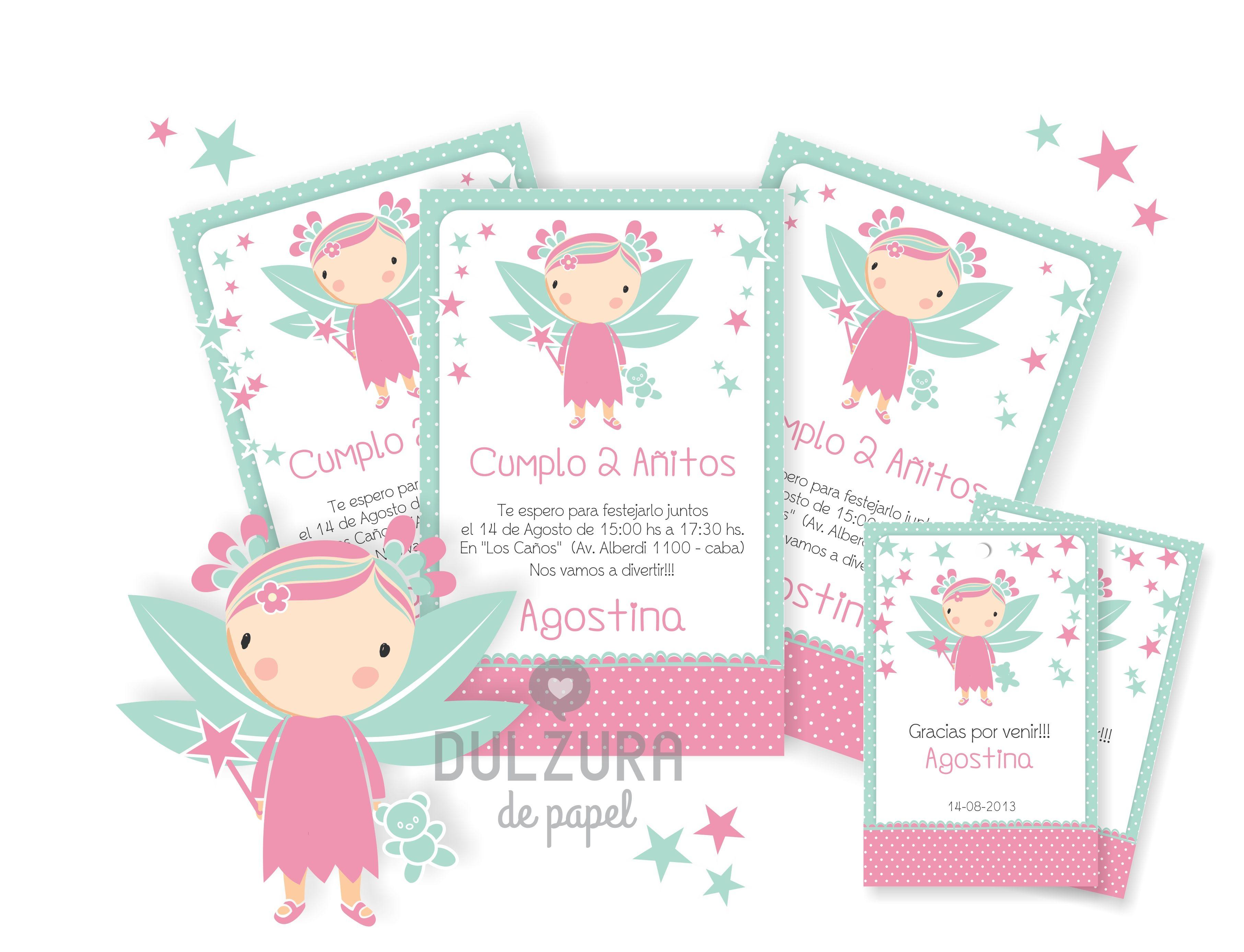 Invitaciones Cumpleaños Hadita Invitacion Imprimible