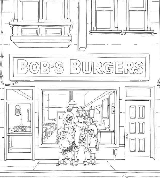 bobs burgers coloring pages The 'Bob's Burgers' Coloring Book Lets You Make the Burger Puns  bobs burgers coloring pages