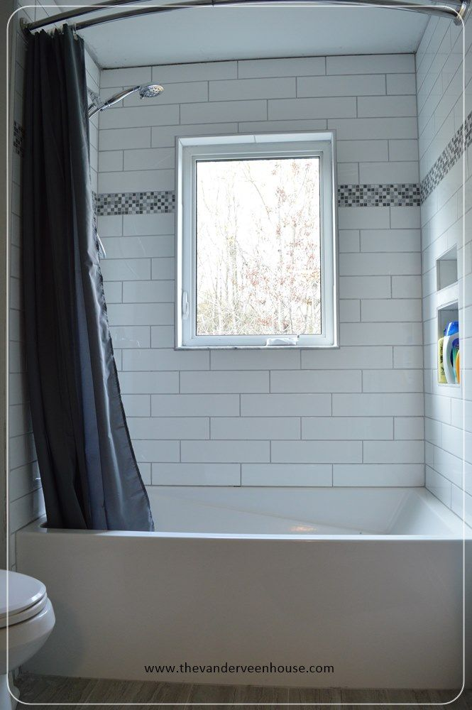 Week 24: Main Bathroom With Subway Tile Shower - Finally a Finished ...