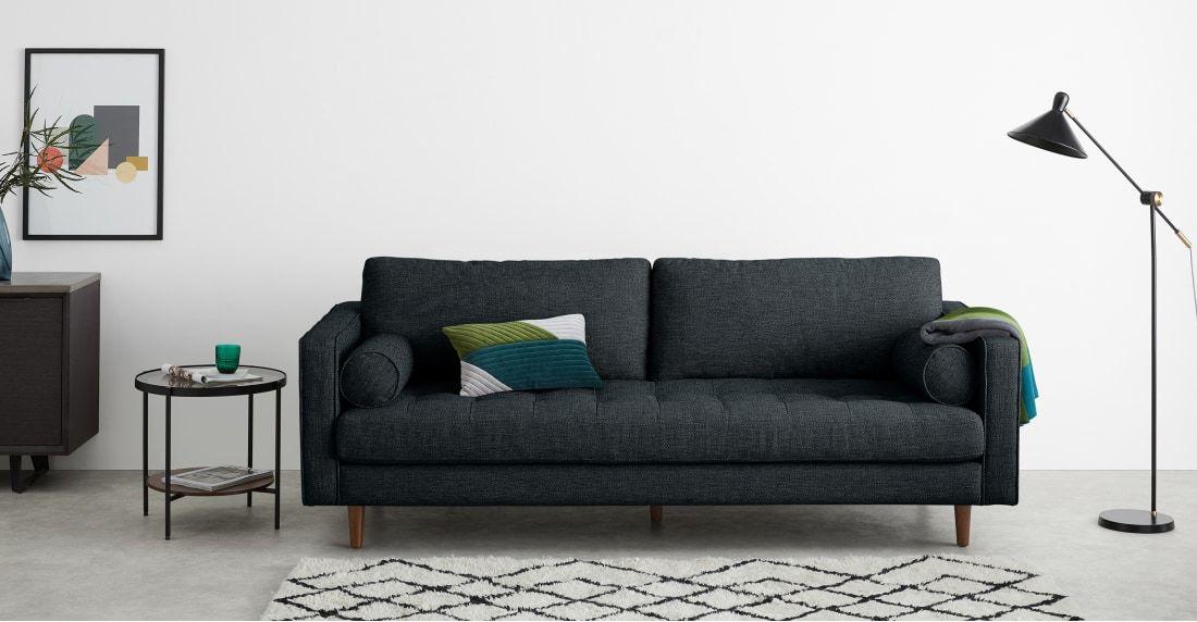 Scott 3 Sitzer Sofa Marineblau 3 Sitzer Sofa Sofa Sofa Design