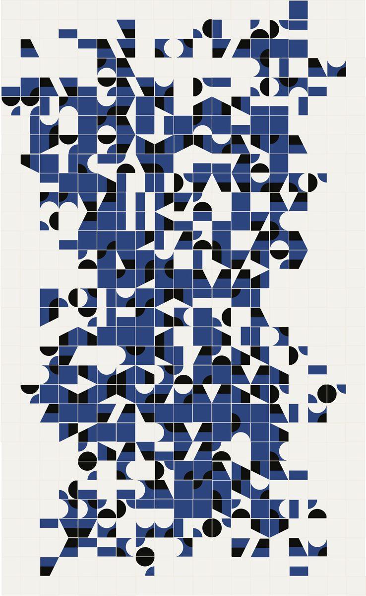 Puzzle di Mutina - Living Corriere | Brick bathroom, Fabric rug and ...