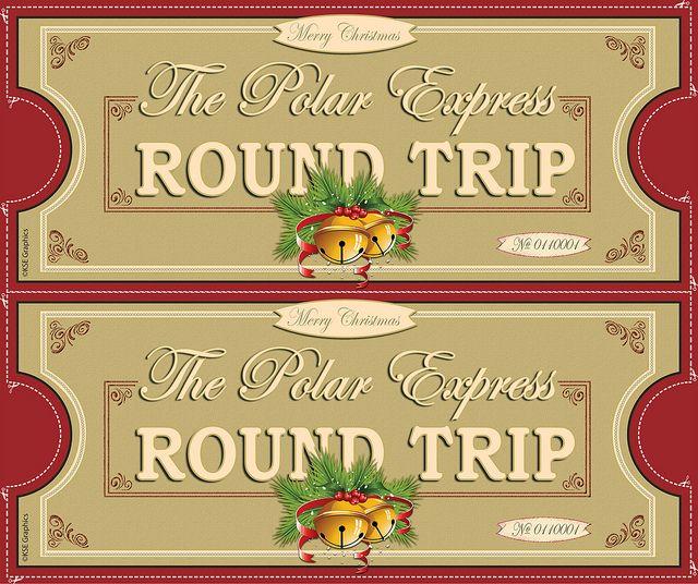 Polar Express tickets FRONT 2up RED | Polar express ...