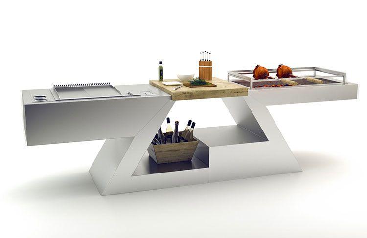 20 Cucine da Esterno dal Design Moderno   Bracieri   Cucine, Cucine ...