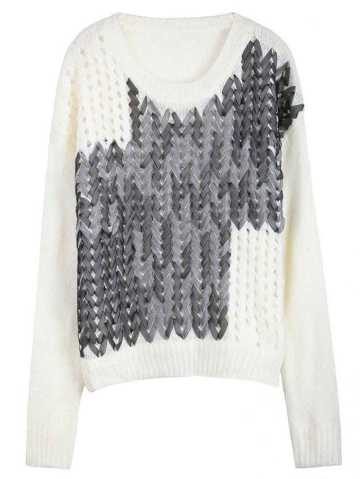 Фото вышивки на свитере