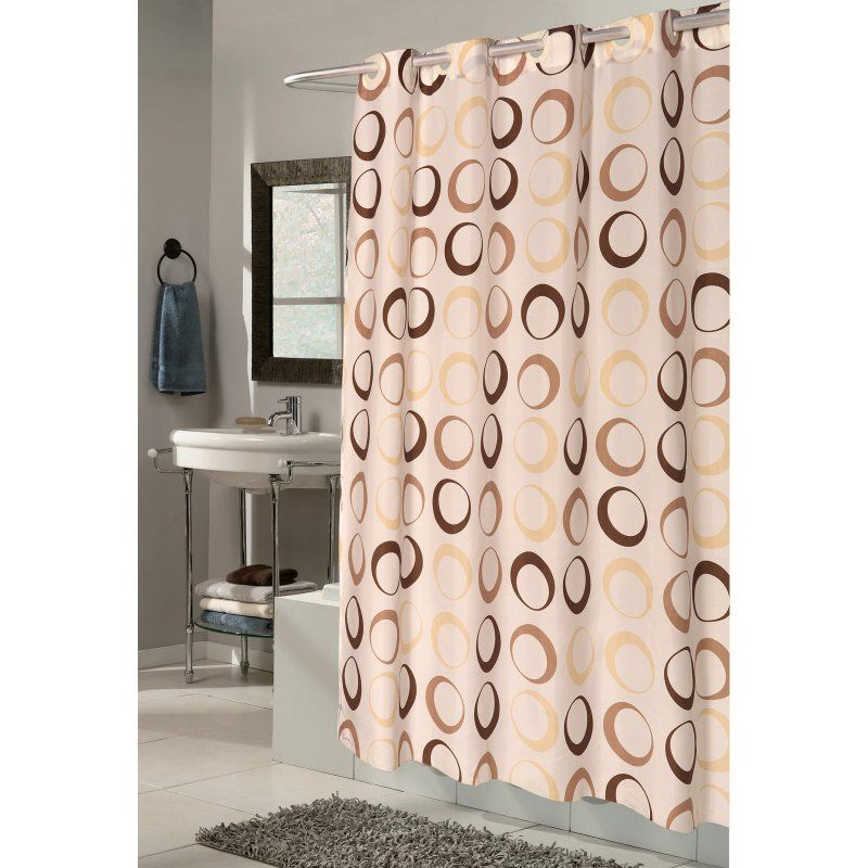 Carnation Home Fashions Ez On Grommet Circles Beige Fabric Shower