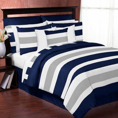 Sweet Jojo Designs Stripe Comforter Set In 2019 Products