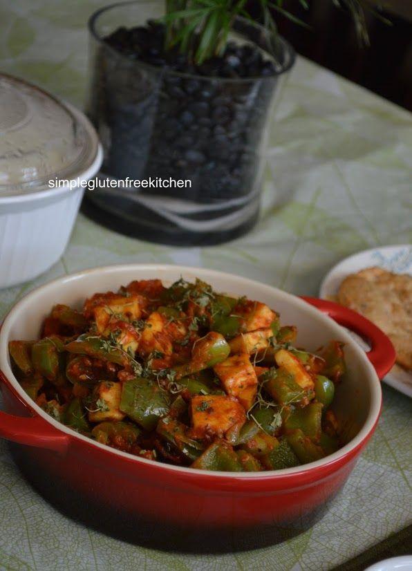 karahi paneer with lentil poori weekend punjabi brunch indian food recipes gluten free on hebbar s kitchen kadai paneer id=17655