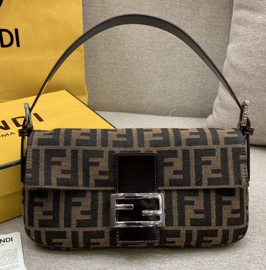 Fendi Ff Pattern Canvas Vintage Baguette Bag Fendi Louis Vuitton Handbags Crossbody Fendi Baguette Vintage