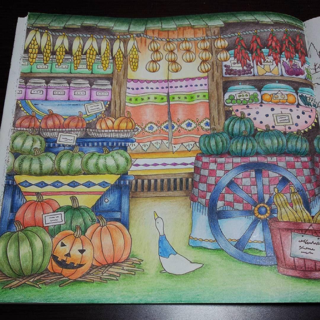 季節的にカボチャ塗りたくて 笑 久しぶりのロマカン楽しかった 大人の塗り絵 ロマンティックカントリー Coloringbook Adultcoloring Coloriage Romantic Country Coloring Books Cool Artwork