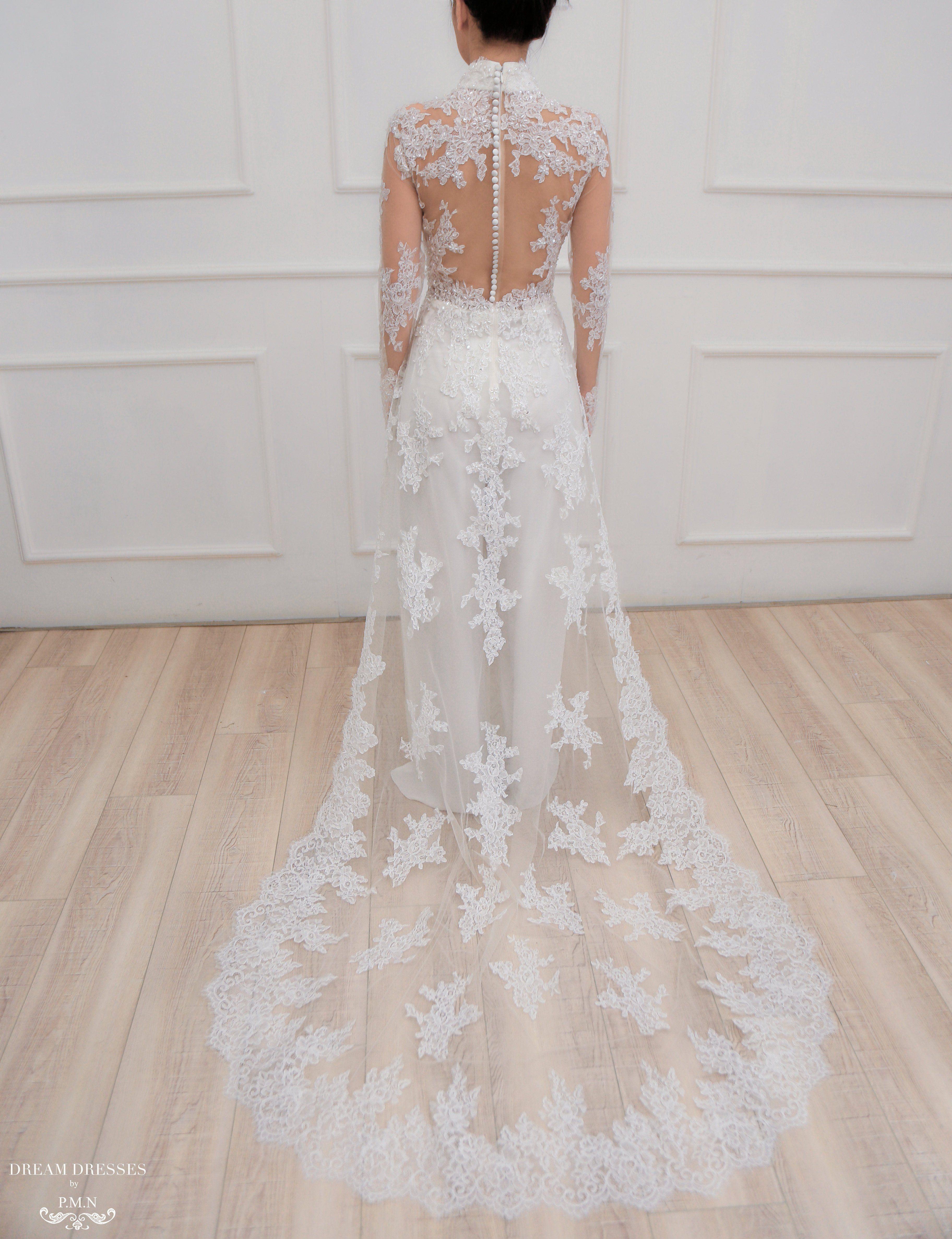 White Ao Dai Modern Vietnamese Lace Bridal Dress Jenine Dream Dresses By P M N Bridal Dresses Lace Vietnamese Wedding Dress Bridal Lace