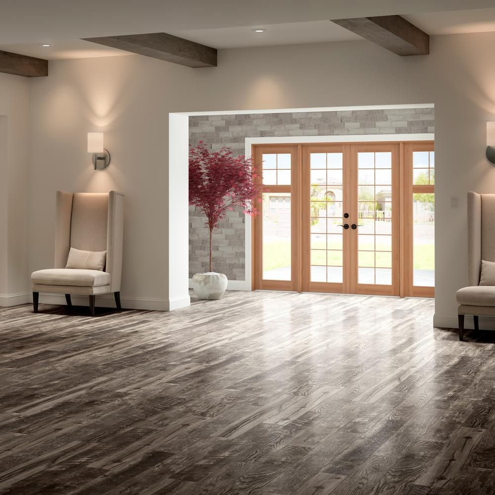 Home Decorators Collection Cinder Wood Fusion 12 Mm Thick X 6 1 8 In Wide X 50 4 5 In Length Lamin House Flooring Home Decorators Collection Mudroom Makeover