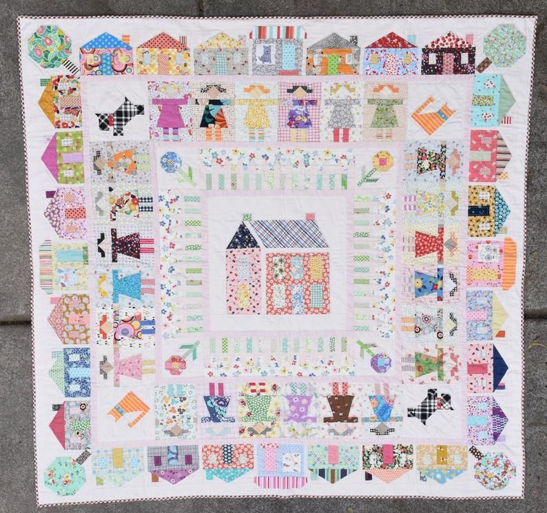 Louise Pappas Girl Next Door Quilt Pattern
