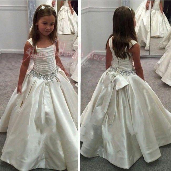 Aliexpress.com: Comprar Vestidos De Primera Comunion cristales ...