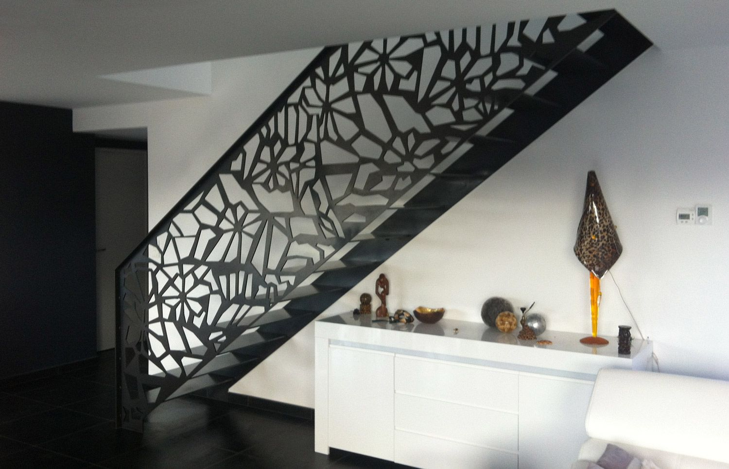 Pin by andrew higgins on metal art pinterest for Garde corps interieur escalier