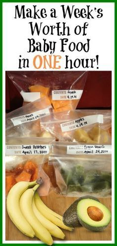 How to Make a Weeks Worth of Baby Food in ONE Hour How to Make a Weeks Worth of Baby Food in ONE Hour A fantastic step by step to prepare homemade baby food I thought it...