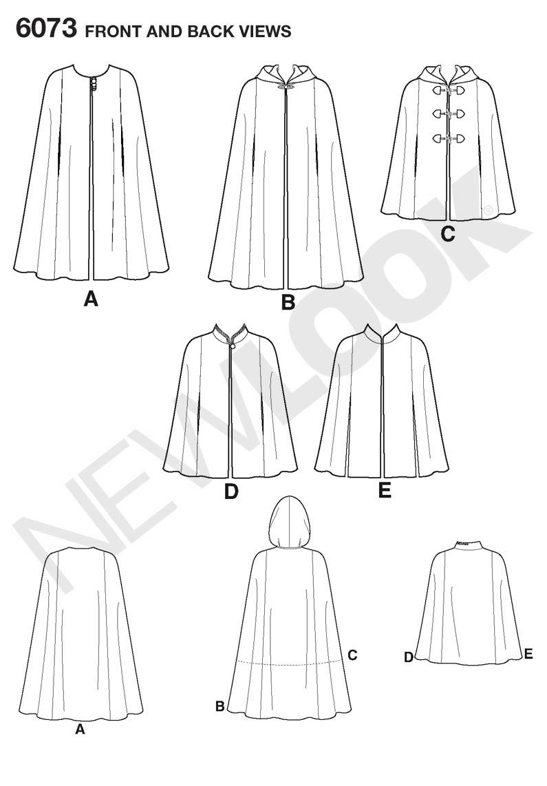 New Look 6073 - Capes | Patterns & Sewing | Pinterest