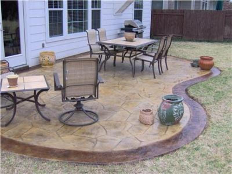 Patio Design Pictures, Schertz, TXA meandering patio design with