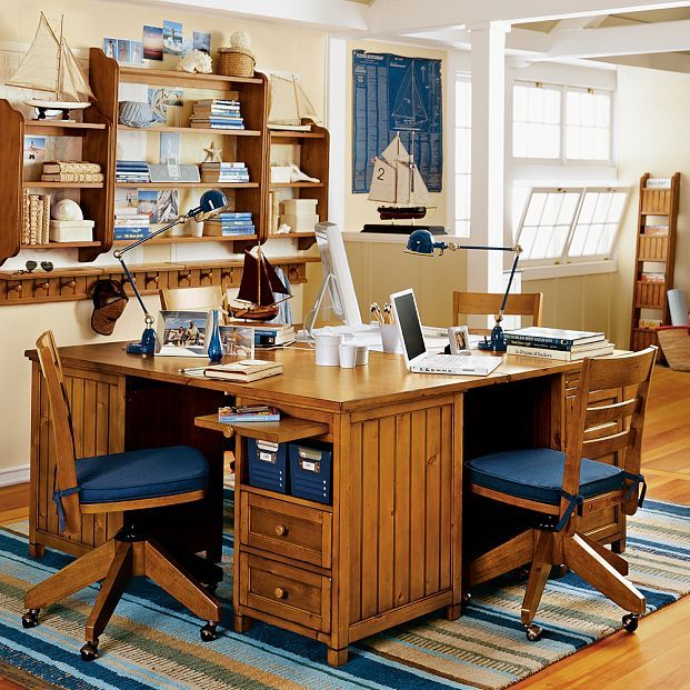 Kids study room furniture interior design inspiration for Home study furniture ideas